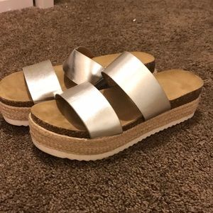 Platform sandals! Only worn once